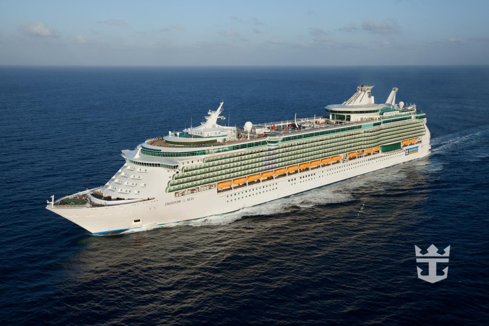 Aerial of Freedom of the Seas